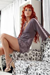Домашнее платье Charmante ― Интернет магазин модного белья - MissAngel.ru. Женское нижнее белье, колготки, чулки, купальники, домашняя одежда.